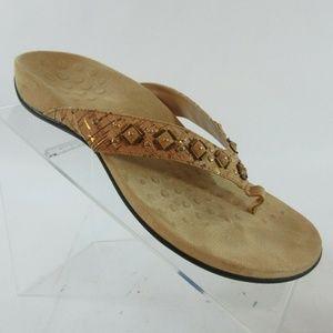 Vionic Floriana Studded Thong Flip Flop Sandals